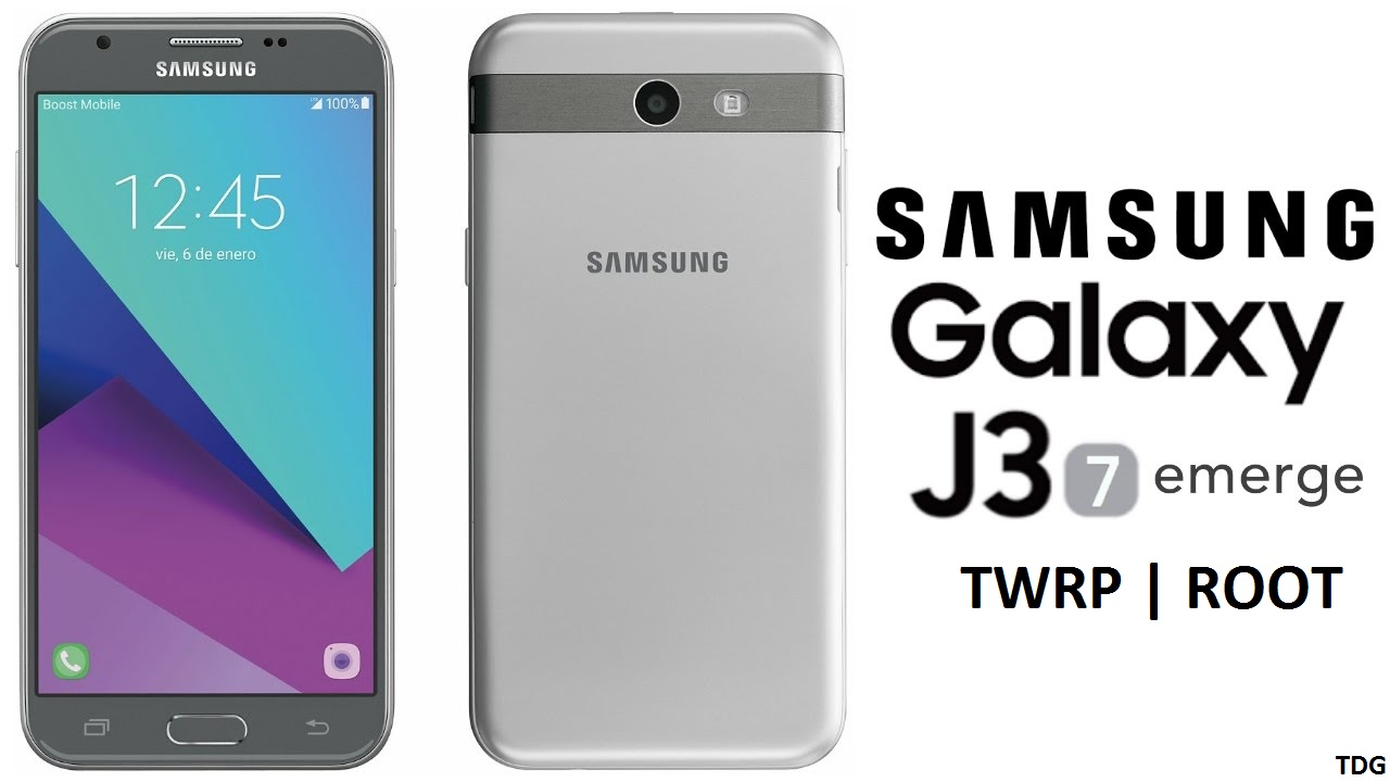 TWRP and Root Galaxy J3 Emerge J327P