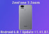 Android 6.0.1 Update 11.41.87.2 On ZenFone 3 Zoom