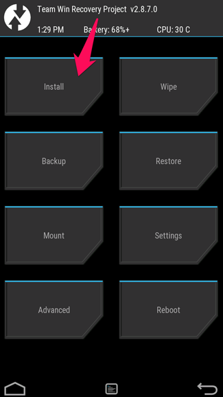 Install In TWRP