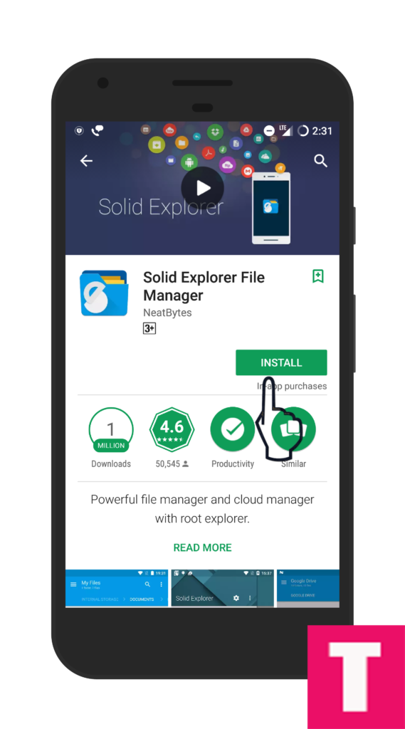 Install solid file explorer