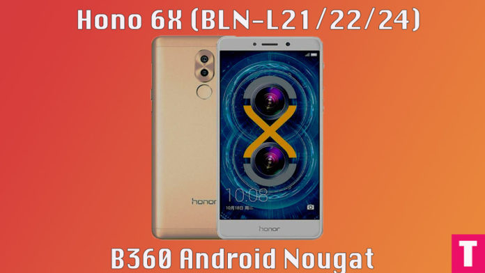 Manually update Honor 6x to B360 Nougat (BLN-L21/22/24)