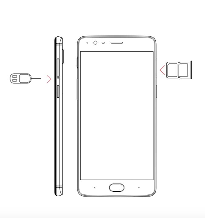 OnePlus sim tray