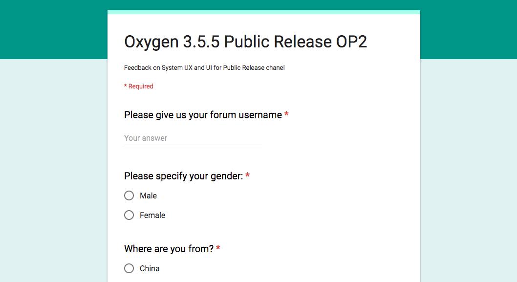 Oxygen OS 3.5.9 OTA Form