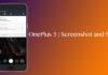 take a screenshot on OnePlus 5 and Share