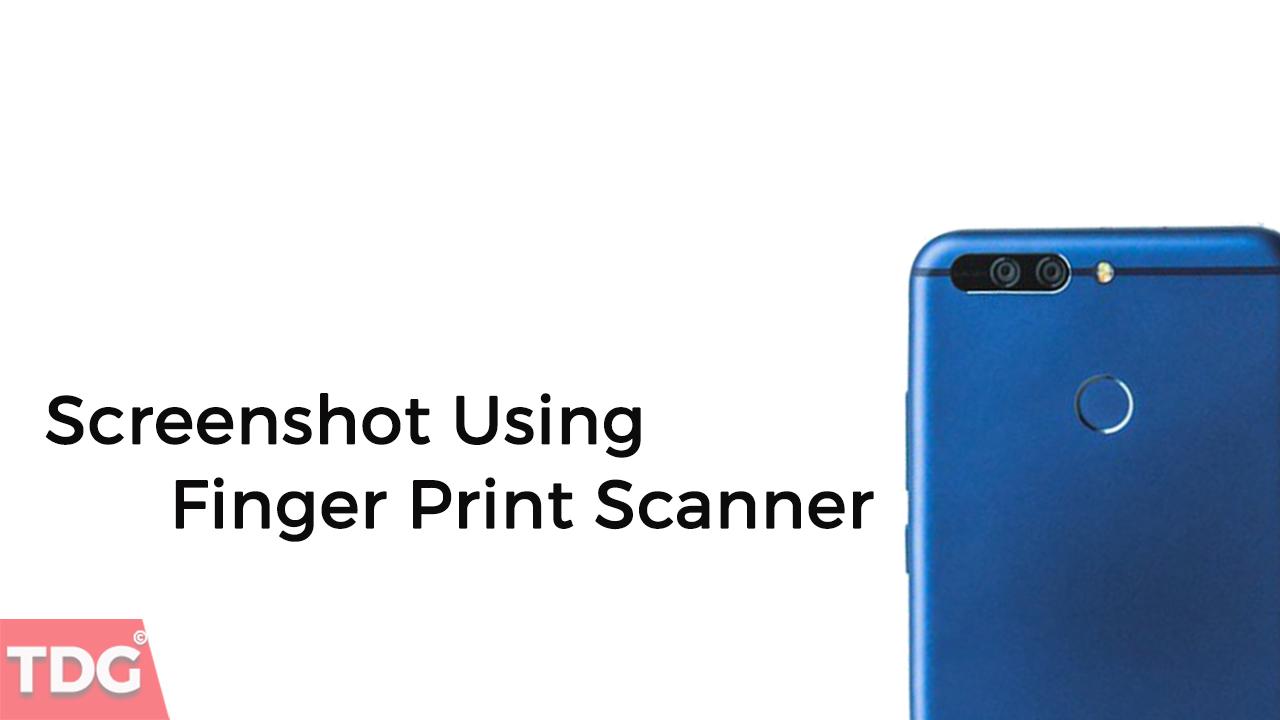 Honor 8 Pro Screenshot using Finger Print Scanner