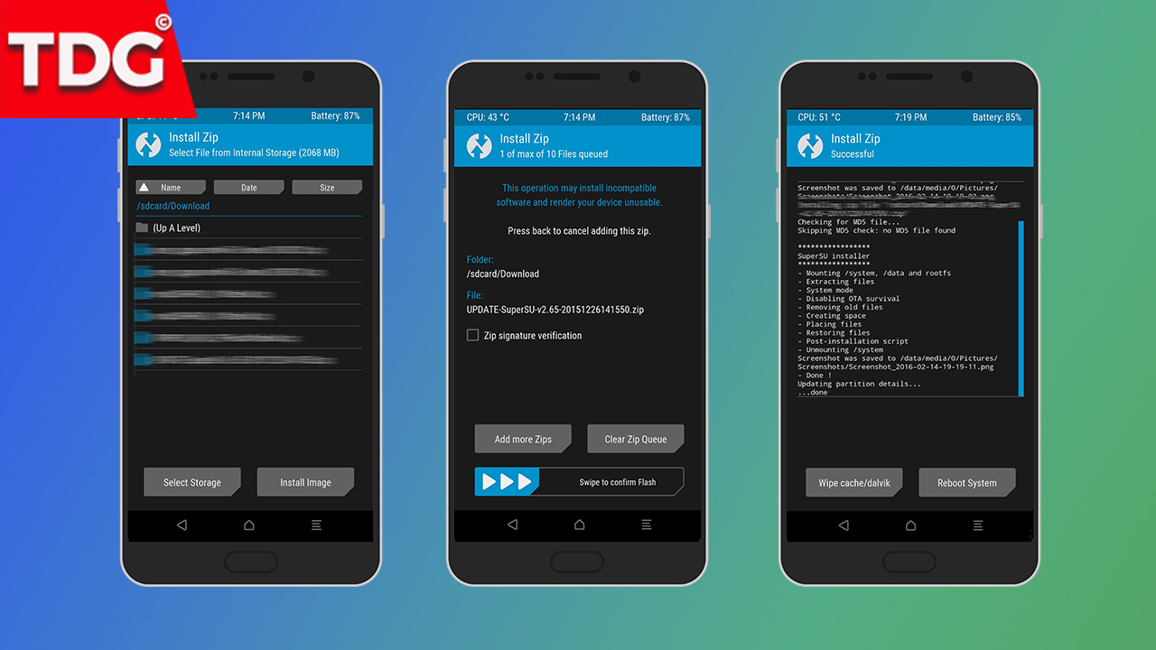 Install Root Pack (Zip) Via TWRP