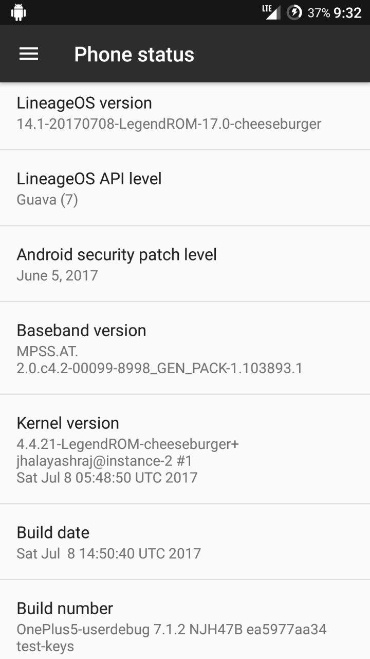 Legend ROM For OnePlus 5