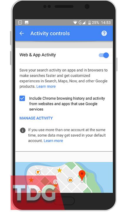 turn off Web & App activity