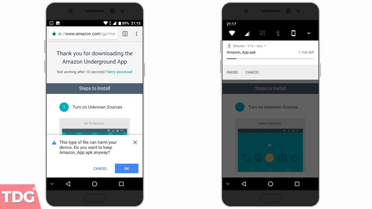 Installing Amazon Underground App