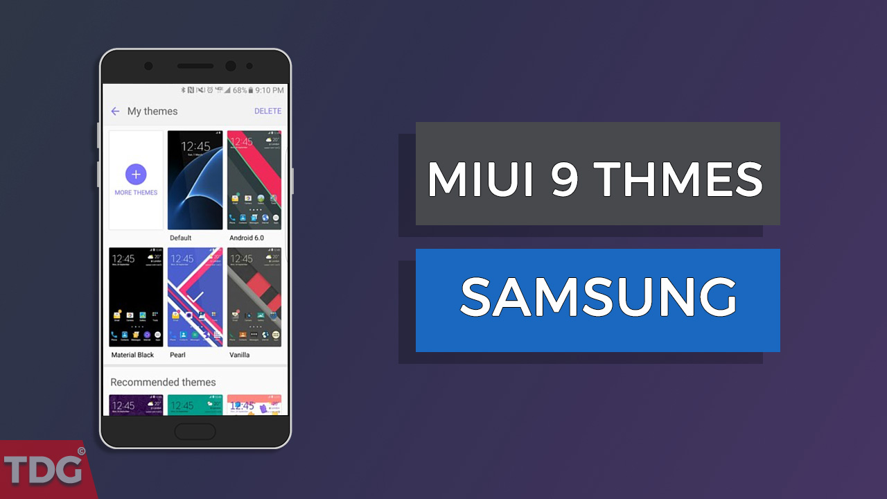 Download & Install MIUI 9 Themes On Samsung Galaxy Phones (2019)