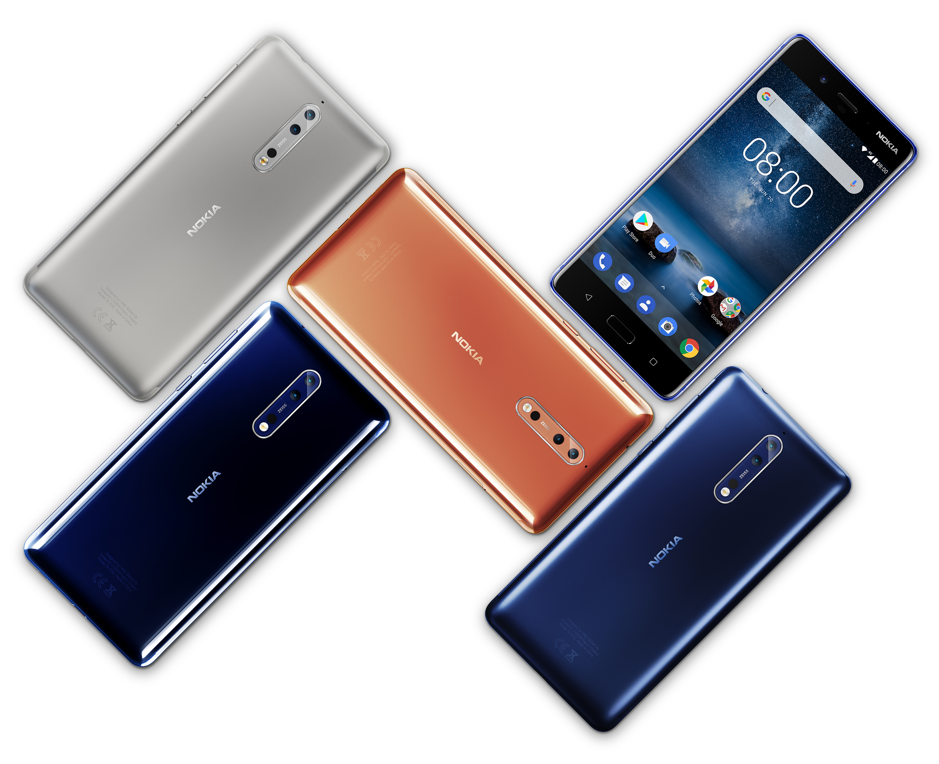 Download Stock Wallpapers From The Nokia 8 The Droid Guru