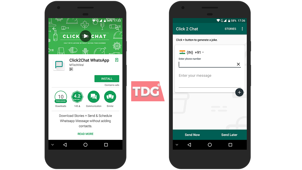 Click2Chat WhatsApp Application
