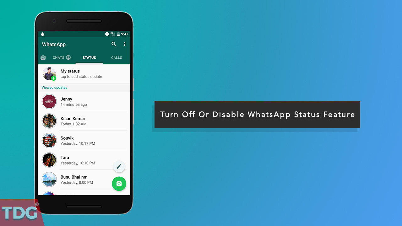 How To Turn Off Or Disable Whatsapp Status Feature Easiest