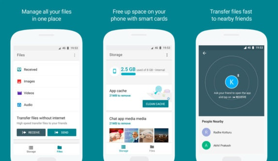 Files Go, the Google Android file manager (download and installation)
