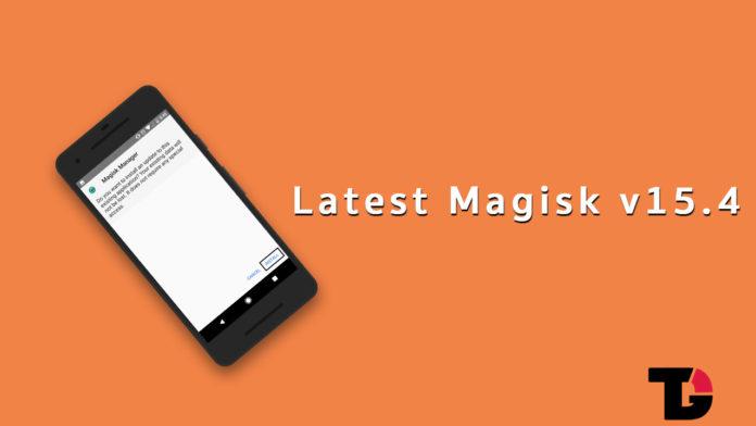 Latest Magisk v15.4