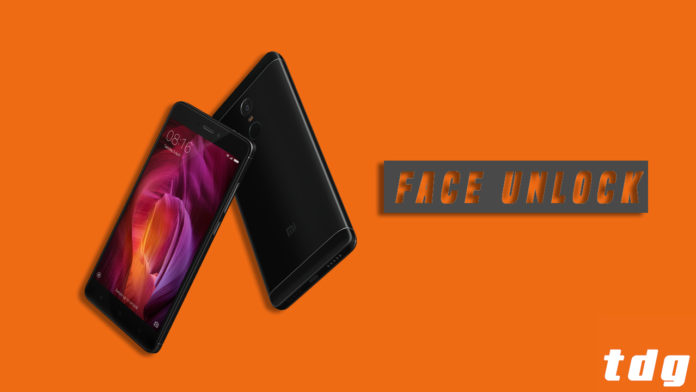 Steps to add Face Unlock to Redmi Note 4