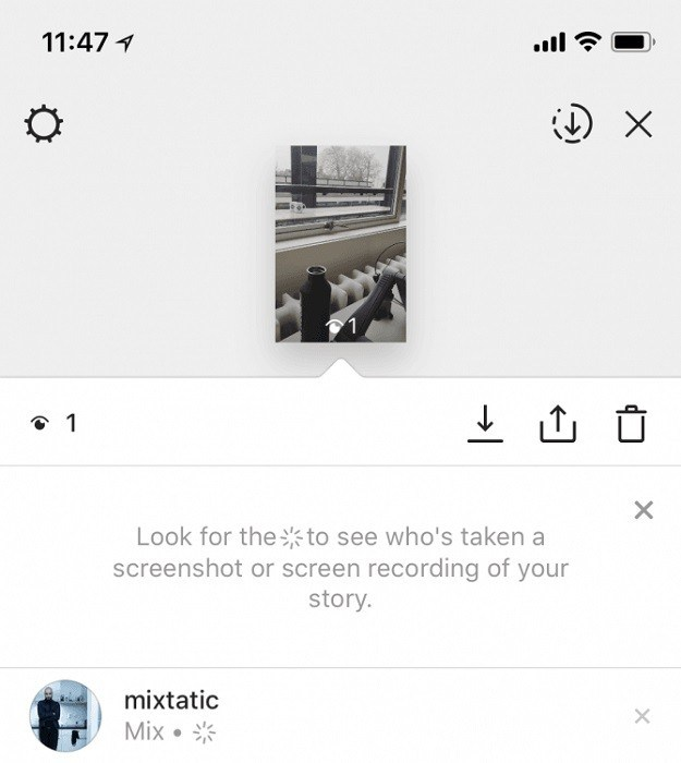 Instagram testing screenshot warnings in Stories