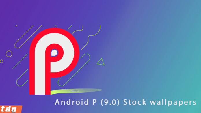 Download Android 9.0 P stock wallpapers