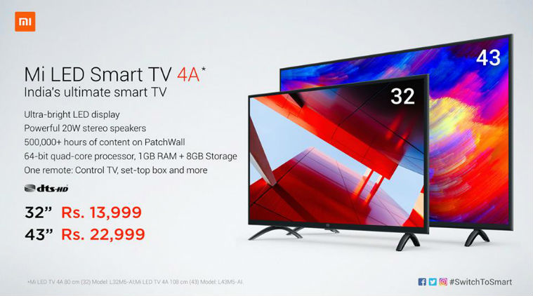 Xiaomi launches Mi TV 4A with 32-inch and 43-inch variants