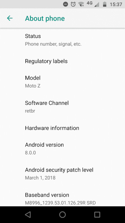 Moto Z Receives Stable Android Oreo 8.0 Update In Brazil
