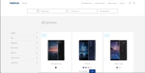 Official Nokia website smartphones