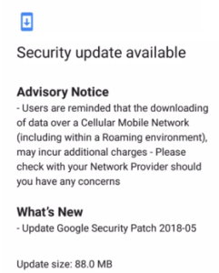 Nokia 2 May Security Patch
