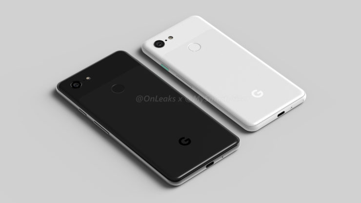 Google Pixel 3 and Pixel 3 XL Renders Shows Dual Front Cameras and New Display Design With Notch