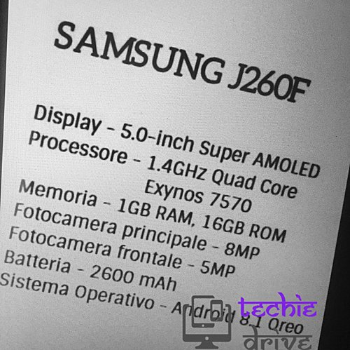 Samsung's First Android Go Edition Phone Specifications Leaked