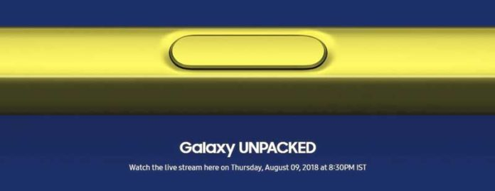 Samsung prepared for the Galaxy Note 9 launch event on August 9