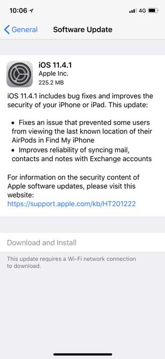 Now You Can Download iOS 11.4.1 on iOS Devices - Update Available
