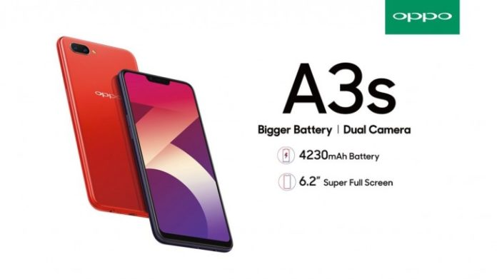 6.2-inch Oppo A3s launched with 4,230mAh battery in India - Specifications and Price