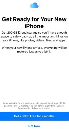 Apple Offering Free 200GB iCloud Storage To iOS Users For Two Months