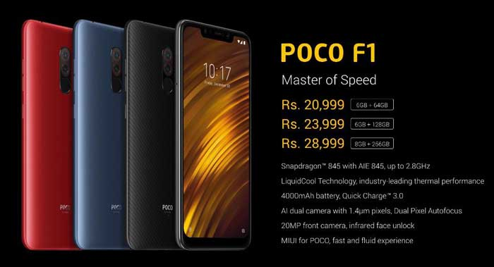 Xiaomi Poco F1 premium smartphone launched in India at an affordable price of Rs.20,999