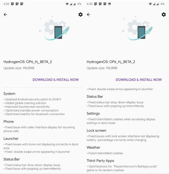 HydrogenOS Beta released for OnePlus 6 with Android 9 Pie update