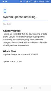 Nokia 6.1 September Security Patch