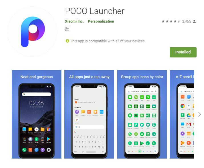 Xiaomi Poco Launcher Official Stable Version Released On Google Play Store