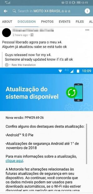 Moto X4 gets stable Android 9 Pie update in Brazil