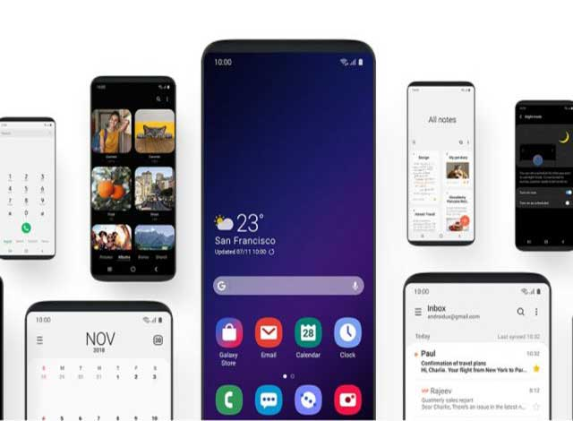 Samsung introduced the new One UI interface for bigger display and foldable screen devices