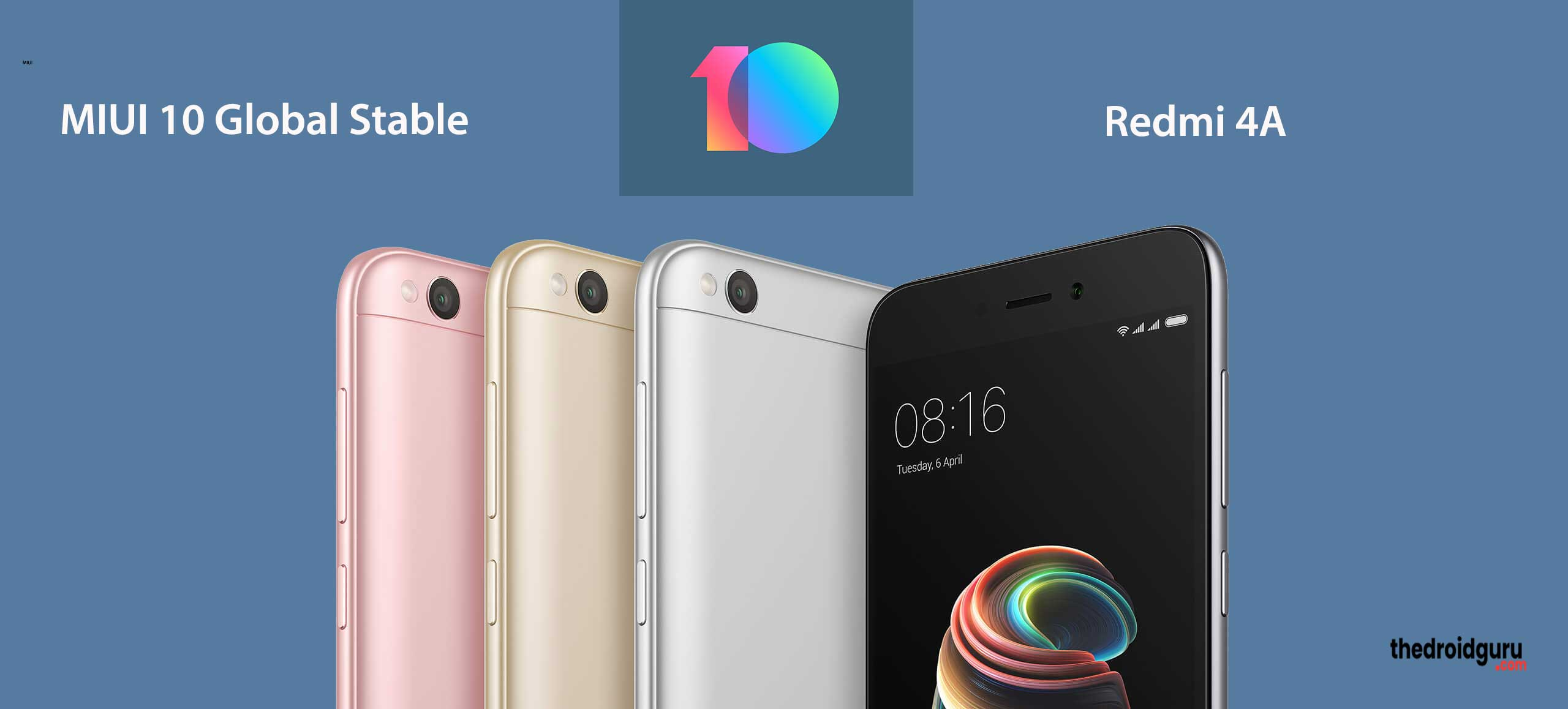 download miui 10 global stable for redmi 4a