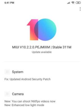 MIUI 10.2.2.0 rolling out to Poco F1 with December Security Patch and 960fps Video Recording